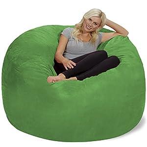 Chill Sack Bean Bag Chair: Giant 6′ Memory Foam Furniture Bean Bag – Big Sofa with Soft Micro Fiber Cover, Lime