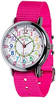 EasyRead Time Teacher Analog Learn The Time Girls Watch Pink #ERW-COL-24-PK