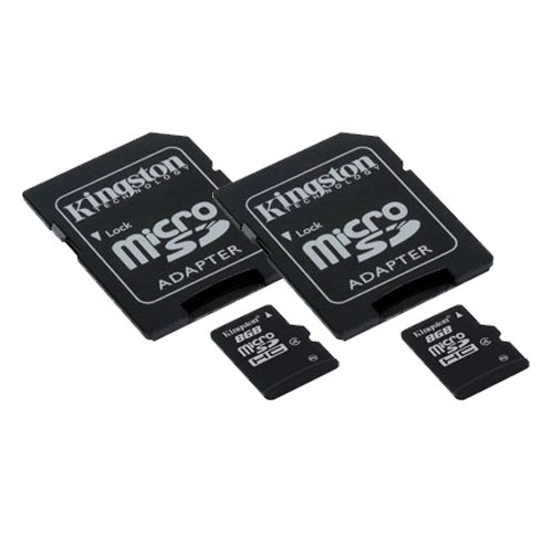 2 x 8GB microSDHC Memory Card with SD Adapter (2 Pack)