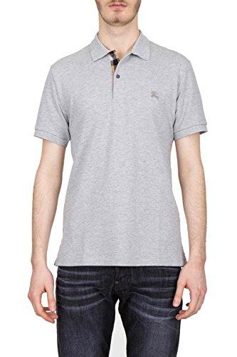 Burberry Men's 395599905000O Grey Cotton Polo Shirt