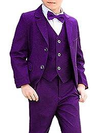 DGMJ Wedding Suits for Boys Slim Fit 3 Piece Formal Dresswear Set HTXZ003