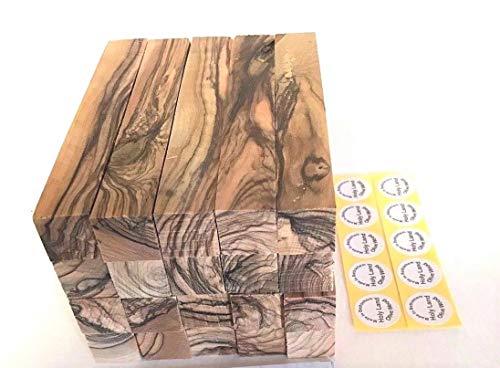 10 ~Dark Grains& Extremely Figured ~ Bethlehem Olive Wood Pen Turning Pen Blanks