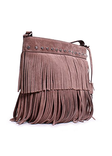 4ec99d634318ed Michael Kors Fringe Bag. Michael Kors Womens Billy Suede Fringe Crossbody  Handbag Taupe Medium.