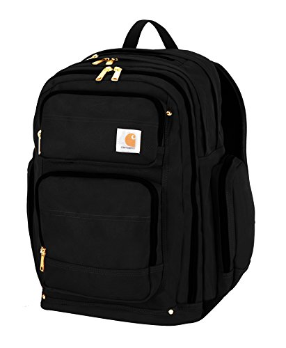 Carhartt Legacy Deluxe Work Backpack with 17-Inch Laptop Compartment, Black (Work Bag Carhartt)