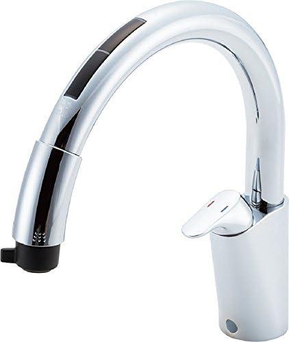 LIXIL(リクシル)INAX キッチン用タッチレス水栓ナビッシュ 浄水器ビルトイン型 JF-NB466SXU(JW)