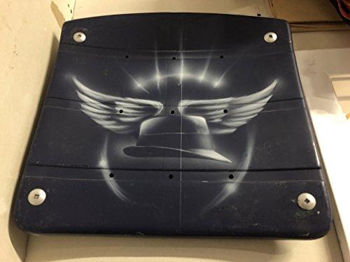 Custom Painted Texas Stadium Seat Bottom - Tom Landry Fedora - Authentic Dallas Cowboys Memorabilia w/ - Near Me Shop Toms