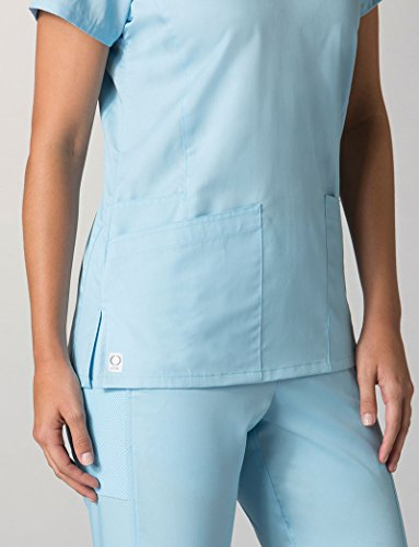 2c24d16d667 EON by Maevn Back Mesh Panel Shaped V-Neck Scrub Top available in ...