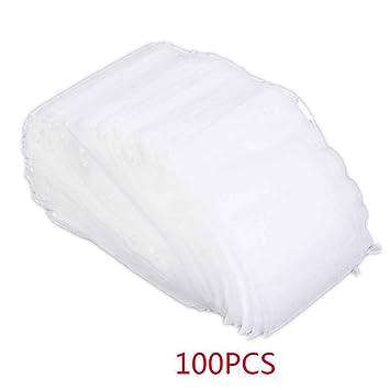 Mengonee 100 st/ücke Teebeutel 5,5x7 CM Leere Duftende Teebeutel Mit String Heilen Dichtung Filterpapier