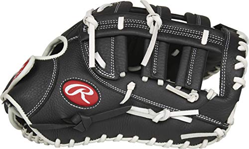 Rawlings Shut Out Series Fastpitch Softball First Base Glove, Single Post Double Bar Web, 13 inch, Right Hand Throw