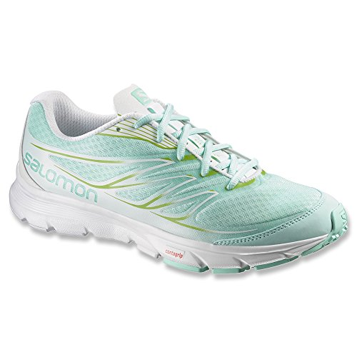 Salomon Sense Link Women's Zapatillas Para Correr igloo blue/white/granny green