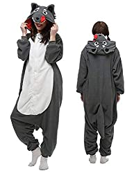 luyao188 Unisex Adult Pyjamas Halloween Costume One Piece Animal Cosplay Onesies