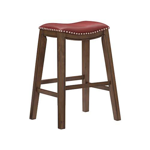 "Homelegance Ordway Pub Height Bar Stool, 31"" SH, Red"