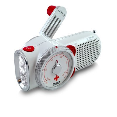 Eton Arcpt200w American Red Cross Rover Self Powered Weather Radio With Flashlight And Usb Cell Phone Charger