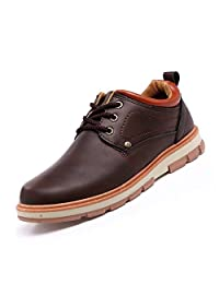 XiaoYouYu Men's Dress Casual Oxfords Leather Shoes