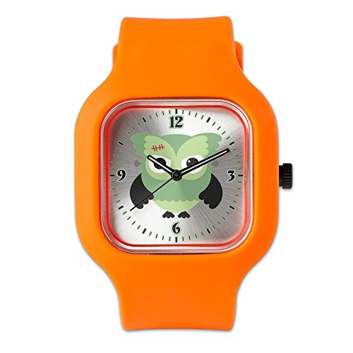 Orange Fashion Sport Watch Spooky Little Owl Frankenstein Monster