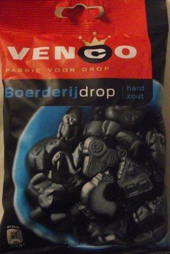 Venco Boerderij Drop hard Zout/Farm Licorice hard salty, 6.1 oz by Venco