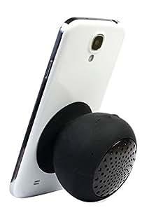 Waterproof Mini Wireless Bluetooth Speaker Mushroom Silicone Sucker Hands Free Speakers for Phone Pc Computer Player (Black)