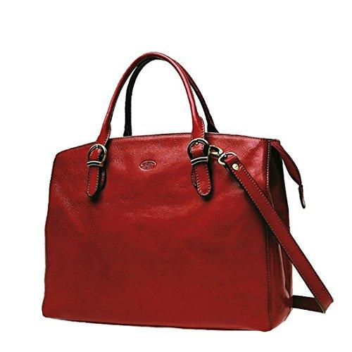 Katana De Collet Cuir 82534 En K Vachette Shopping Rouge Sac Upxwaa