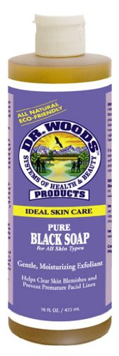 Dr. Woods Ideal Skin Care, Pure Black Soap with Shea Butter, 16-Ounce Pack of 12