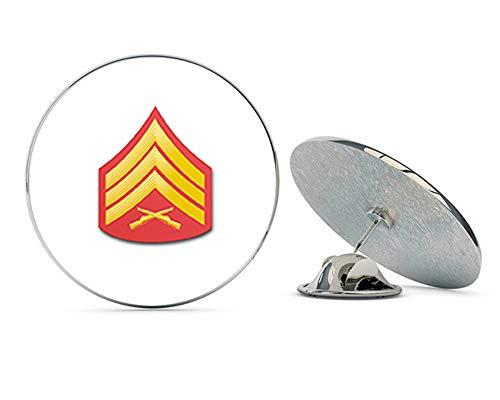 Veteran Pins USMC US Marine Corps E-5 Sergeant Red/Gold Chevron Steel Metal 0.75