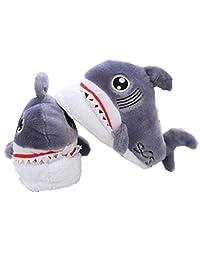 Cute cartoon shark cotton slippers, home cotton slippers