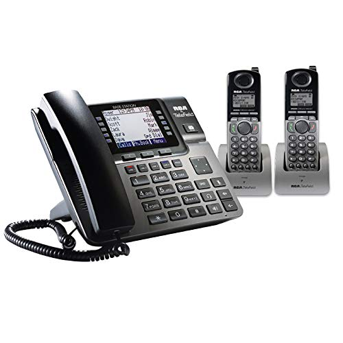 RCA Unison DECT 6.0 Phone System with One Base Station and Two Cordless ()