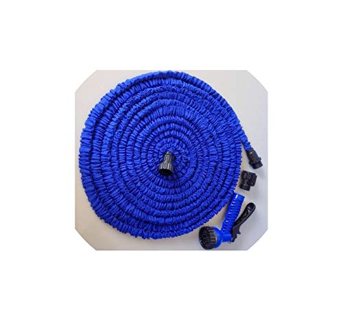 Easy-S-E-H Car Magic Flexible Hose Expandable Garden Hose Reels Garden Water Hose for Watering Connector,75Ft,Blue