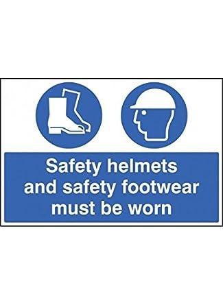 Caledonia Signs 15019P - Cascos de seguridad y calzado de seguridad (plástico rígido, 600