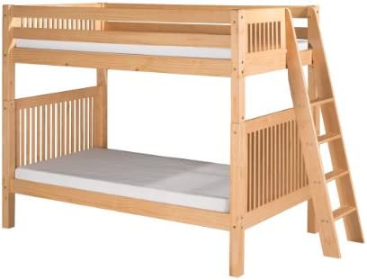 Camaflexi Bunk Bed, Twin-Over-Twin, Natural