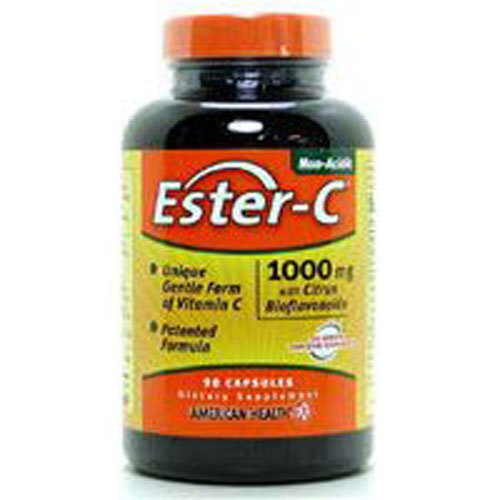 4 Pack of American Health Ester-C with Citrus Bioflavonoids - 1000 mg - 120 Vegetarian Tablets - Gluten Free - Wheat Free - ()