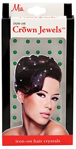 Mia Crown Jewels-Pretty Crystal Ornaments For The Hair-They Iron On With A Flat Iron!-Emerald Green Color-Beautiful Brilliant Cut Diamond Shape-Measures 0.1 Inches in Diameter-50 Peces Pr - Emerald Macy's