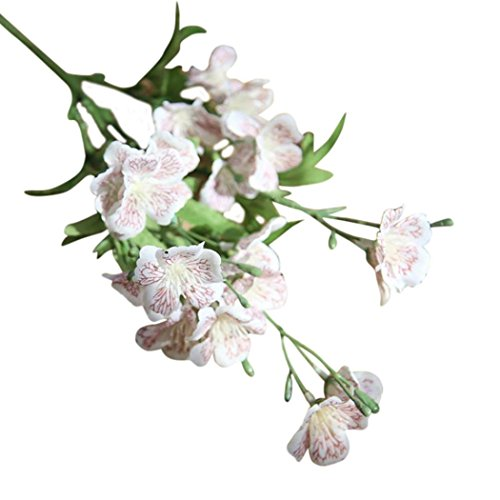 Hot Sale!!Woaills Wedding Home Decor - Bouquet Phalaenopsis Butterfly Orchid Artificial Silk Flower (White)
