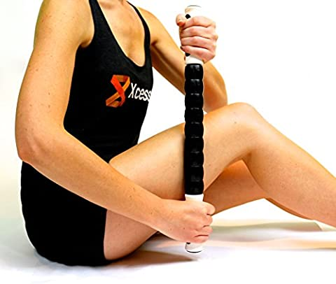 Muscle Roller Stick: A Great Sports Massage Tool for Releasing Myofascial Trigger Points, Reducing Muscle Soreness, Loosing Tightness, Soothing Cramps and Relieving Muscle (Jake Wii)
