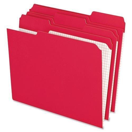 R152 1/3 RED Pendaflex File Folder - Letter - 8.50