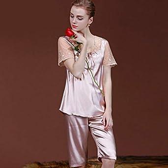 Pijama de Seda de simulación para Mujer, Servicio de hogar ...