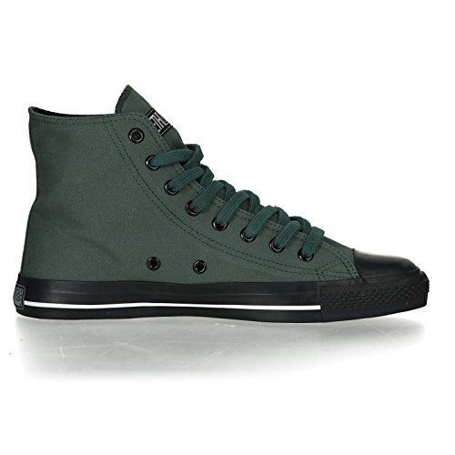 Ethletic Sneaker Vegan Hicut Collection 17 - Farbe Reseda Green/Jet Black Aus Bio-Baumwolle
