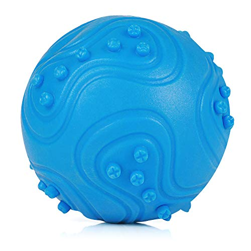 KAOSITONG Interactive Dog Chew Toys - Chew Toys IQ Treat Ball Interactive Toys Small Medium Large Dogs - Durable Food Dispensing Chew Dog Ball, Nontoxic Rubber Bouncy Dog Ball, Cleans Teeth