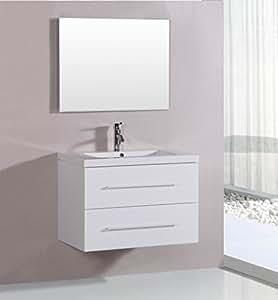 "Virtu USA - Vincente 32"" Single Bathroom Vanity in White ..."