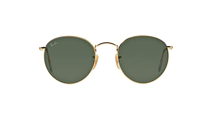 3964862af9 Authentic Ray-Ban RB 3447 001 50mm Round Metal Gold Frame Green Lenses