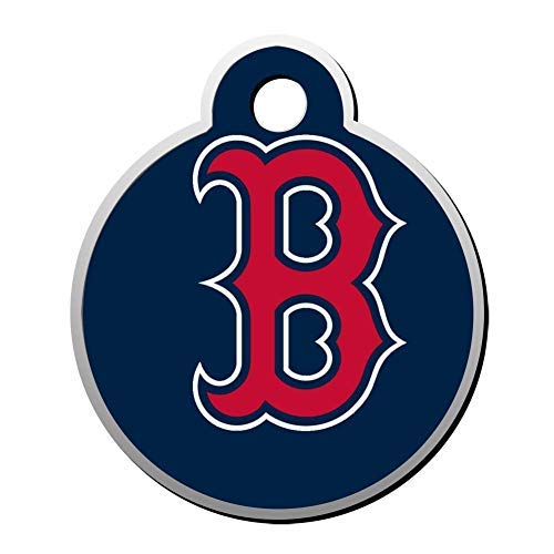 Boston Sox Red Personalized Pet Id Tag for Dog and Cats,Cute Round Dog ID Tag,Pet Identification Tag,Gifts for Pet Lovers ()