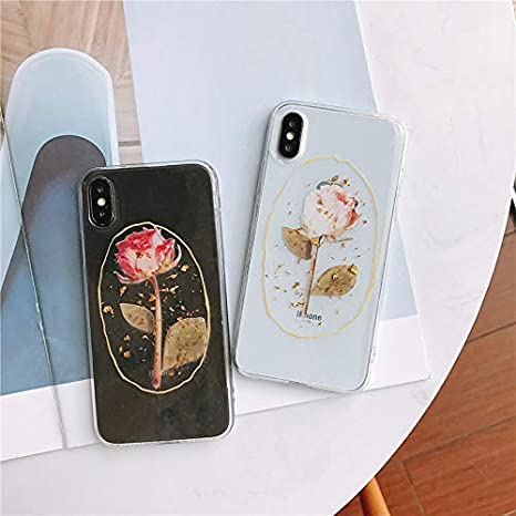 Amazon.com: Funda para iPhone X Max con diseño de rosas y ...