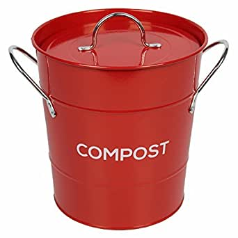 extra large metal kitchen compost caddy clay. Black Bedroom Furniture Sets. Home Design Ideas