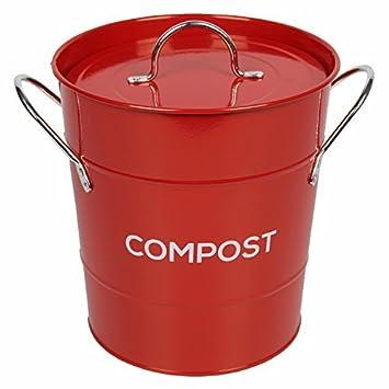 Komposteimer, aus Metall, für die Küche, mit 50 x 10 l Biomüllbeutel ...