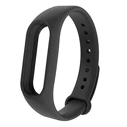 Oobest - Pulsera para Xiaomi Mi Band 2. Correa de reemplazo para pulsera inteligente, accesorios para Mi Band 2, color negro