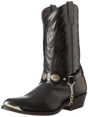 Concho Western Boots - Laredo Men's Tallahassee Western Boot,Black,11 D US
