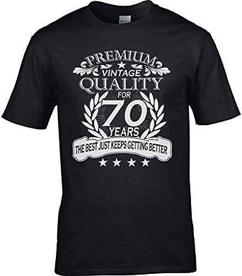 Mens 70th Birthday T Shirt Quality Celebration Gift Idea Seventy Seventieth 70
