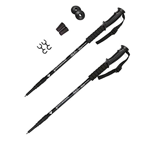 Trekking Poles by ZYTCMY Telescoping Anti Shock Hiking Poles Walking Mountaineering Trail Poles, 2 pack