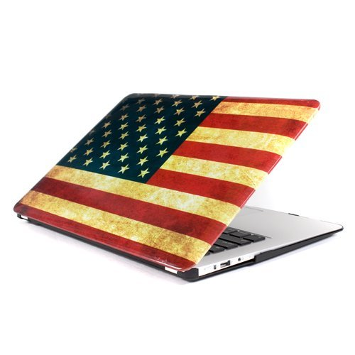 GMYLE  Vintage US United States Flag Glossy Crystal Hard She
