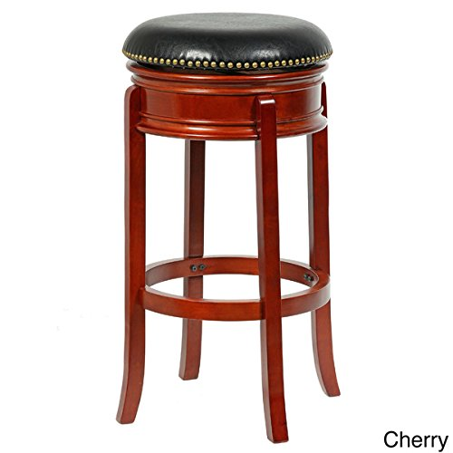 Bristol 34-inch Height Swivel Bar Stool Cherry Finish