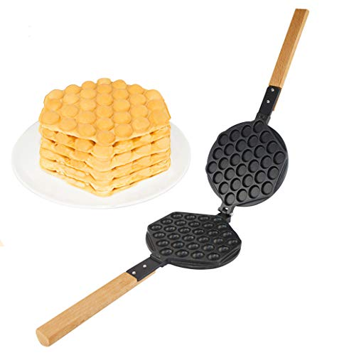 ALD Kitchen IMPROVED Puffle Waffle Maker Professional Rotated Nonstick ALD Kitchen (Grill/Oven for Cooking Puff, Hong Kong Style, Egg, QQ, Muffin, Eggettes and Belgian Bubble Waffles) (MOLD)